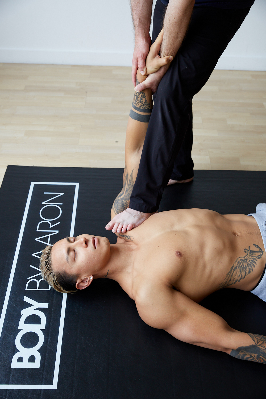 Aaron stretching athlete