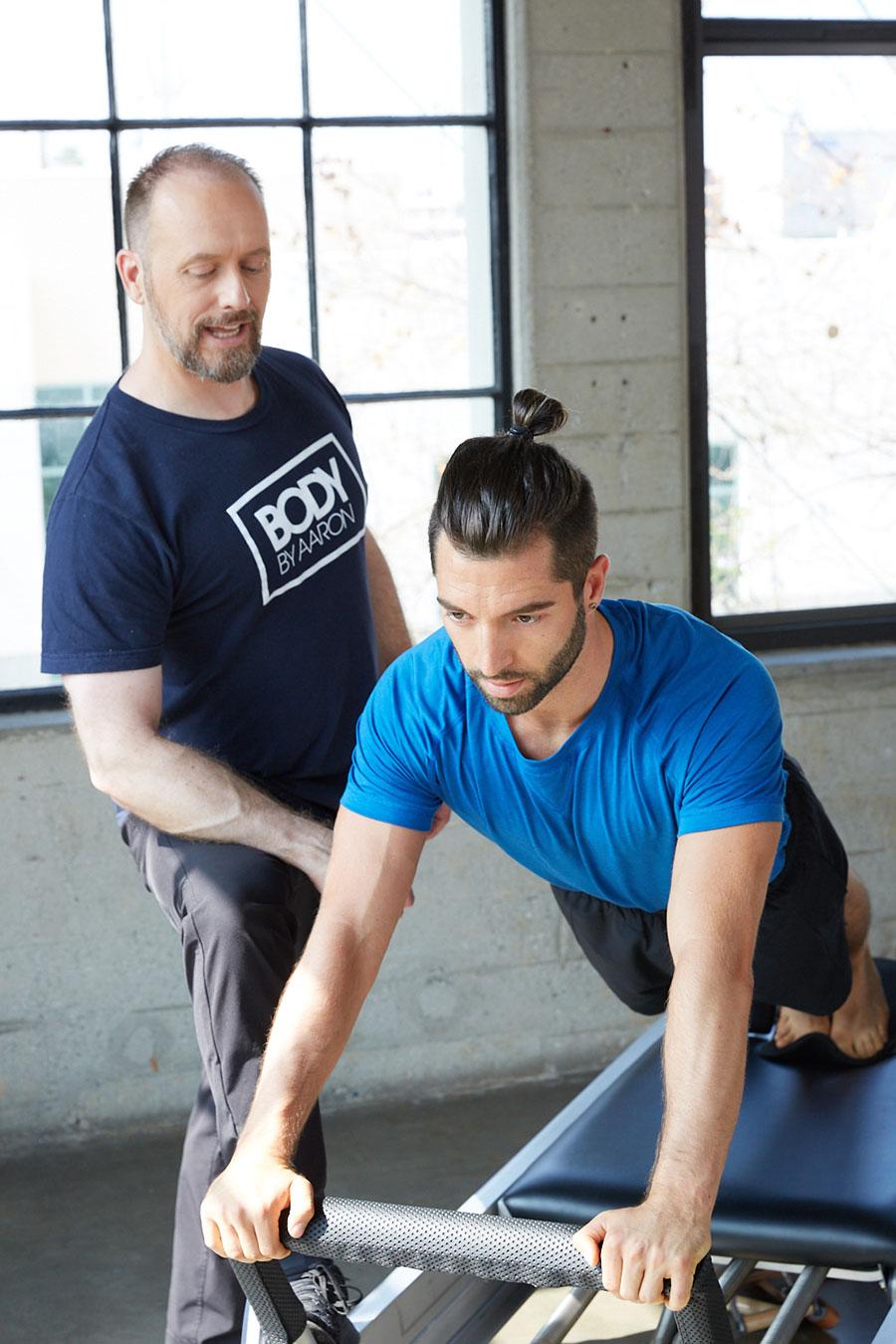 Pilates Man on Reformer